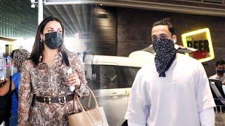 Asim Riaz And Himanshi Khurrana Spotted At Mumbai Airport