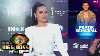 Bigg Boss 15 Me Pratik Sehajpal Ke Entry Par Kya Boli Divya Agarwal | 2nd Iconic Gold Awards 2021