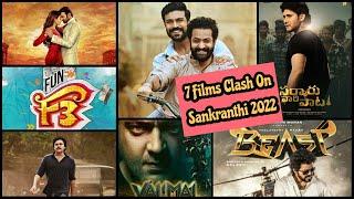 7 Films Clash Expected On Sankranthi 2022, RRR Clash With Radhe Shyam, F3, Beast, Valimai & Others