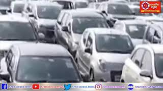 Huge Traffic Jam Witnessed At Delhi
