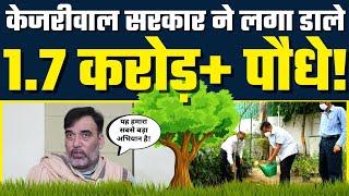 Arvind Kejriwal Govt ने Delhi में लगा डाले 1.7 करोड़ पौधे! - Environment Minister Gopal Rai
