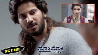 Solo Kannada Movie Scenes   Dulquer Salmaan Breaks Down For Sai Dhanshika