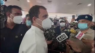Lakhimpur Kheri Violence: Shri Rahul Gandhi addresses media in Lucknow Airport