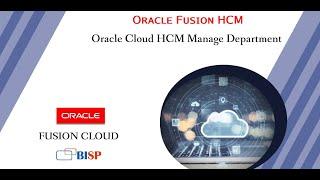 Oracle Cloud HCM Manage Department   Oracle Fusion HCM   HCM Tutorial   Oracle HCM Training   HCM