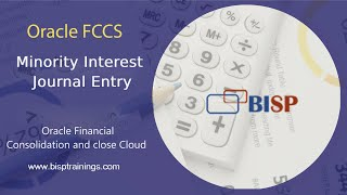 Oracle FCCs Minority Interest Journal Entry  FCCs Journal Entry  Non-Controlling Interest (NCI)