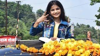 Super Dancer 4 Ki Contestant Anshika Rajput Ka Home Town Nepanagar Me Jordar Swagat