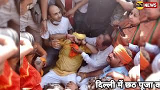 Delhi CM हाउस प्रोटेस्ट पर सांसद मनोज तिवारी घायल, सबदरजंग अस्पताल ले जाया गया