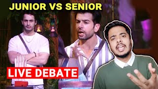 Bigg Boss 15 Live Debate | Junior Vs Senior, Jay Vs Umar, Pratik Sehajpal