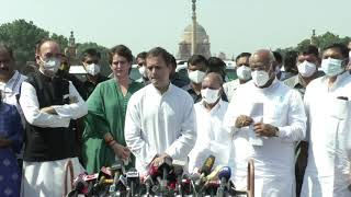 Lakhimpur violence: Shri Rahul Gandhi addresses media after meeting with Hon'ble President of India