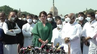 Lakhimpur Kheri violence: Smt. Priyanka Gandhi addresses media after meeting with Hon'ble President