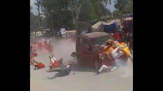 लखीमपुर खीरी की तरह सीजी में कार से कुचलने का मामला 1 की मौत 20 घायल - viral Video