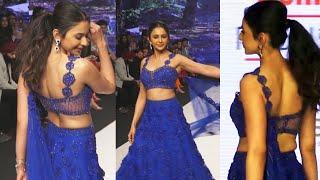 Beautiful Rakul Preet Singh On Ramp For Designer Sonakshi Raaj At Bombay Times Fashion Week 2021