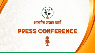 Press Conference by BJP National Vice President Shri Baijayant Jay Panda at BJP HQ.