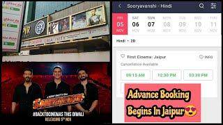 Sooryavanshi Advance Booking Begins In Jaipur