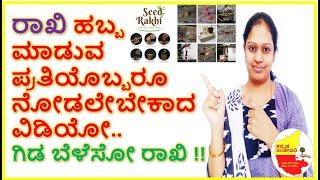 ರಾಖಿ ಕಟ್ಟುವ  ಪ್ರತಿಯೊಬ್ಬರೂ ನೋಡಲೇಬೇಕಾದ ವಿಡಿಯೋ || EcoFriendly SeedRakhi || Kannada Sanjeevani