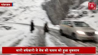 कश्मीर में सेब पर संकट, बर्फबारी ने बढ़ाई मुश्किलें