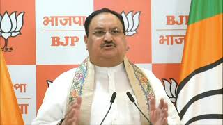 Shri JP Nadda's remark on India setting a historic record of more than 100 crore vaccinations.