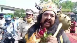 Oh Lord, it's Yamraj! 'Lord Yamraj' teaches road safety rules in Goa!