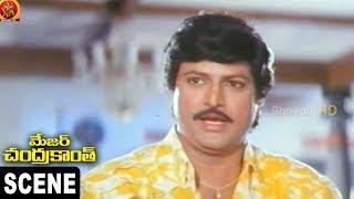 Nagma Searching Mohan Babu and Asks NTR    Major Chandrakanth Scene