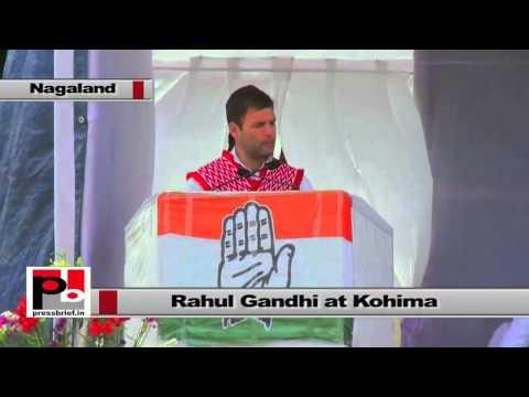 Rahul Gandhi at Nagaland - UPA has 50% seats to women in local bodies
