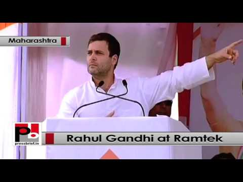 Rahul Gandhi at Congress election rally at Ramtek, Maharashtra