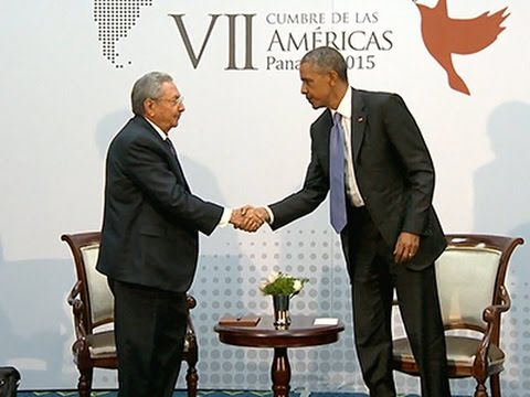 Obama, Castro Hold Historic Meeting News Video