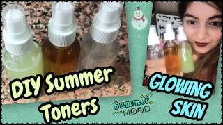 DIY Natural Summer Toners for Glowing Refreshed Skin | Get Rid of Large/Open pores | JSuper Kaur