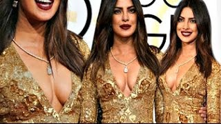 Priyanka Chopra HUGE B00BS EXPOSED At Golden Globe Awards 2017