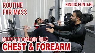 Chest & Forearm Workout Split Routine! BBRT #61 (Hindi / Punjabi)