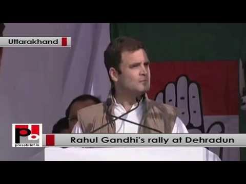 Rahul Gandhi at Dehradun- Congress' ideology is to listen to people