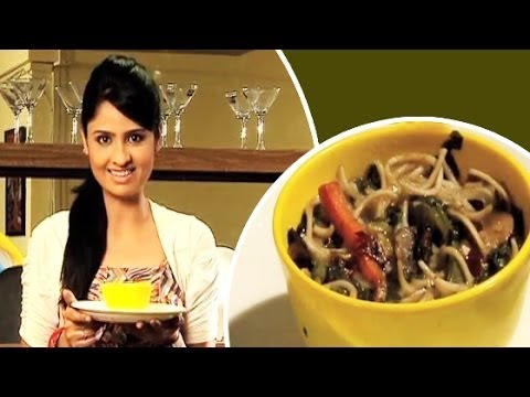 Spinach Noodles Soup Recipe Video