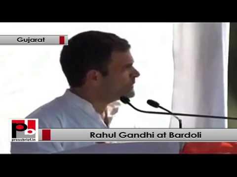 Rahul Gandhi- Indira Gandhi said 'gareebi hataao' but BJP wants 'gareeb hataao'