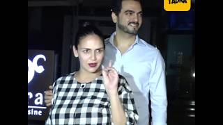 Pregnant Esha Deol dine at Yauatcha Restaurant with husband and friends
