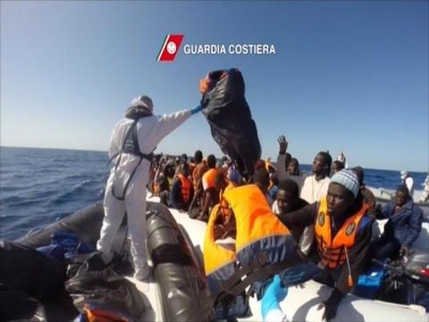 Raw- Italian Coast Guard Rescues 220 Migrants News Video