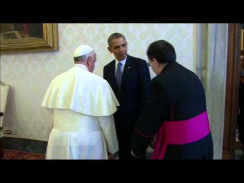 Raw- Obama's First Meet With Pope Francis News Video