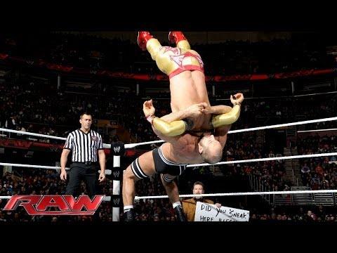 Rey Mysterio & Sin Cara vs. The Real Americans- Raw, Jan. 27, 2014 - WWE Wrestling Video