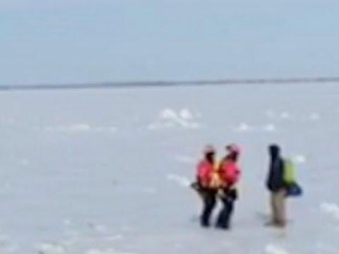 Coast Guard Rescues Man Crossing Lake St. Clair News Video