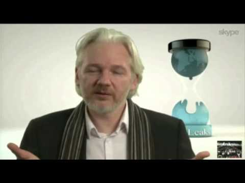 Julian Assange Appears at South by Southwest News Video