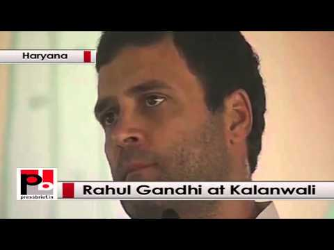 Rahul Gandhi at Kalanwali, Haryana lashes out at BJP, Modi govt