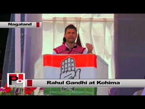 Rahul Gandhi at Nagaland - I want everyone to get respect