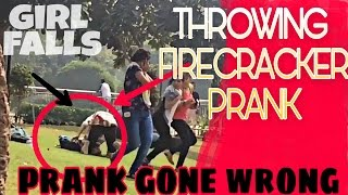 FIRECRACKERS ON PEOPLE PRANK PRANK GONE WRONG TEEN BROS PRANKS IN INDIA`