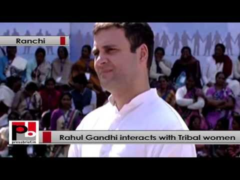 Rahul Gandhi- We need to empower tribal women, give them equal opportunities