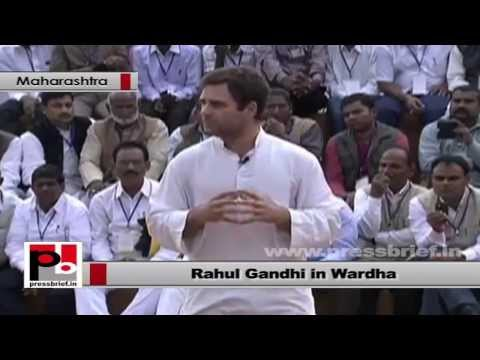 Rahul Gandhi at Wardha stresses for the the need to give more power to local leaders part 04