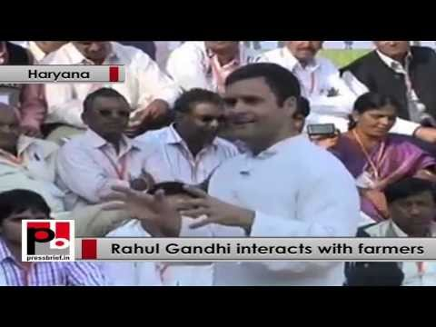 Rahul Gandhi interacts with farmers, attacks BJP