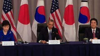 Obama, Guen-Hye, Abe Talk North Korea Sanctions - News Video