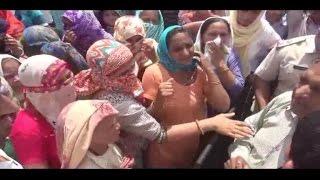 शराब ठेके के खिलाफ महिलाओं ने लगाया बाईपास पर जाम