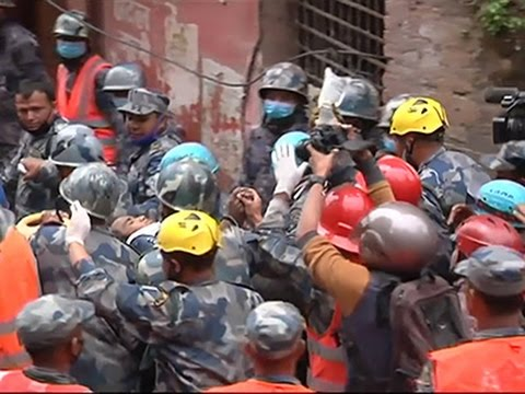 Raw- Teenage Boy Rescued in Nepal News Video