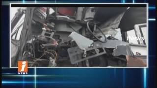 RTC Bus Hits Container Lorry In Kattangur | 8 Injured And Driver Seriously Injured | iNews