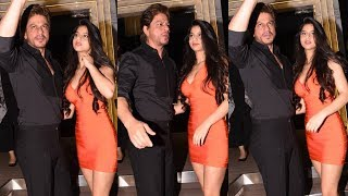 Shahrukh Khan With Stunning Daughter Suhana At Gauri Khan's Restaurant Launch