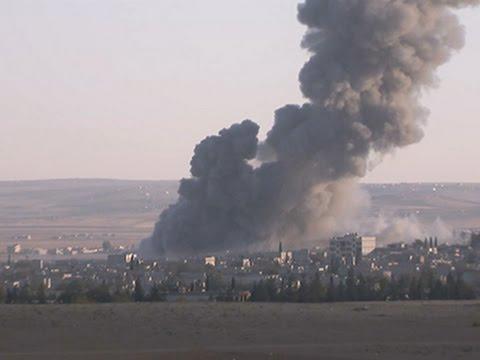 Raw- Huge Explosion Sends Smoke High Over Kobani News Video